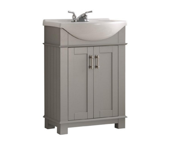 Small Gray Bathroom Vanity | Demure Fashion Blog