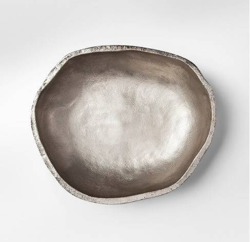 Large Silver Decorative Bowl | Demure Fashion Blog