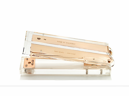 Kate Spade Gold Stapler | Demure Fashion Blog