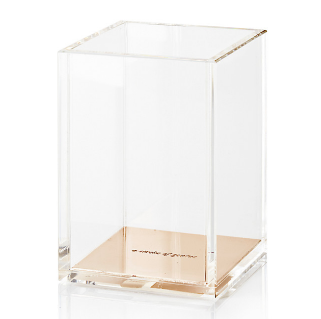 Kate Spade Gold Pencil Holder | Demure Fashion Blog