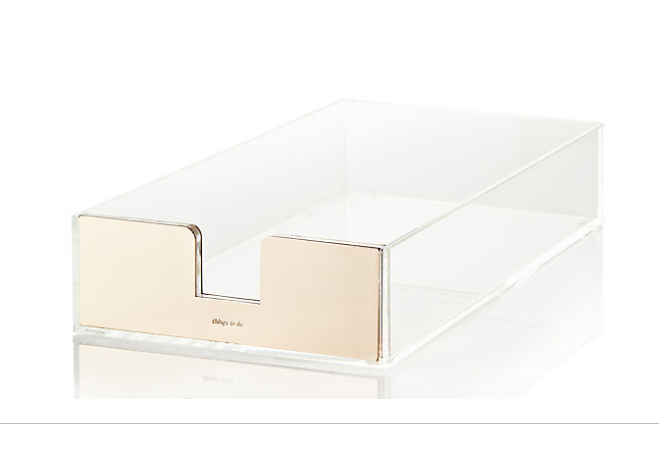 Kate Spade Gold Paper Tray | Demure Fashion Blog