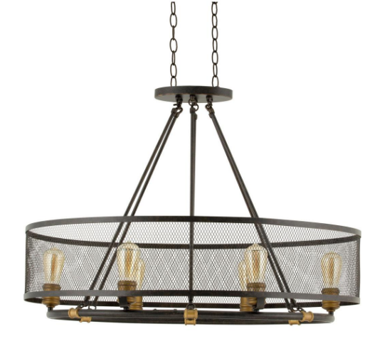 Rustic/Industrial Old Fashion Light Fixture | Demure Fashion Blog