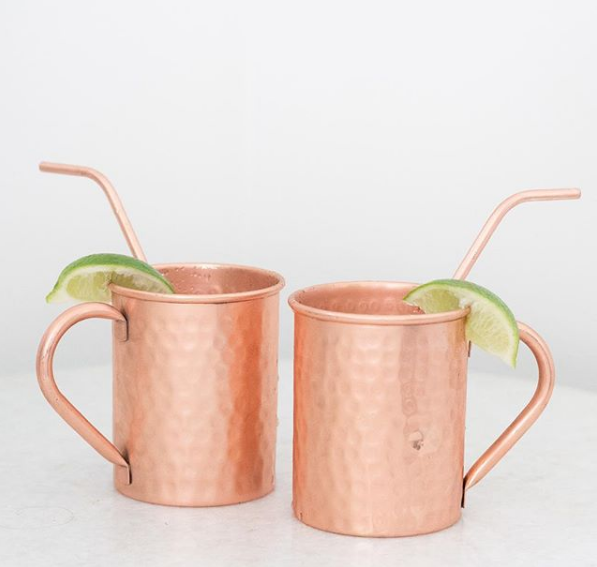 Copper Cure Copper Moscow Mule Mugs | Demure Fashion Blog