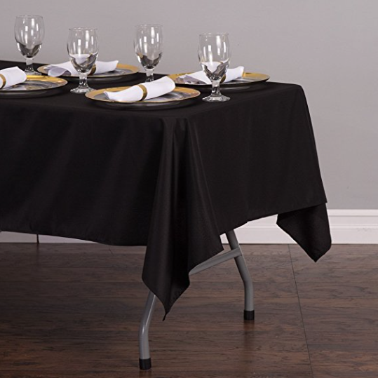 Black Table Cloth Wine Glasses | Ademurelife