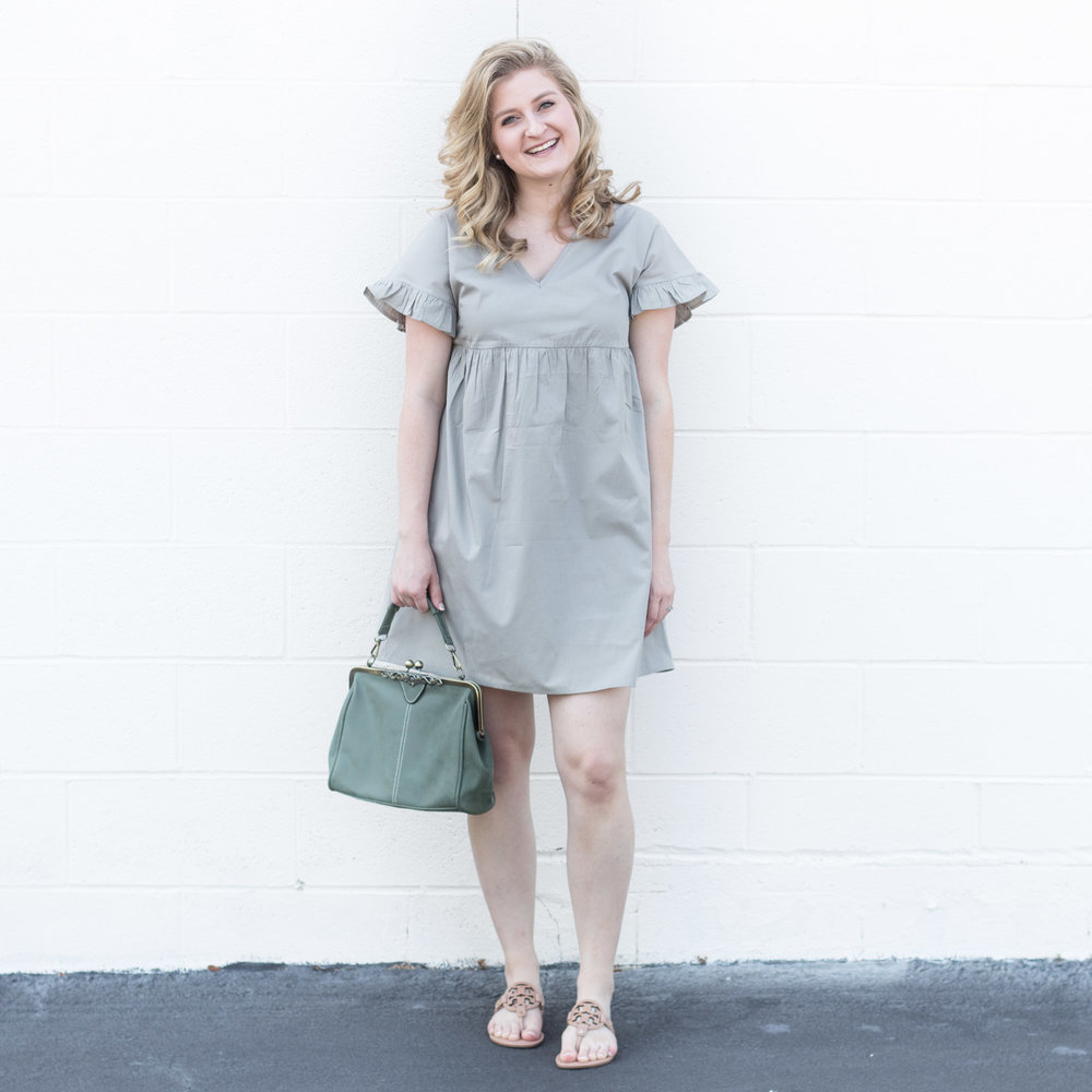 Grey Short Dress | Demure Fashion Blogger