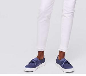 Loft Double Frayed-hem White Denim | Demure Fashion Blog