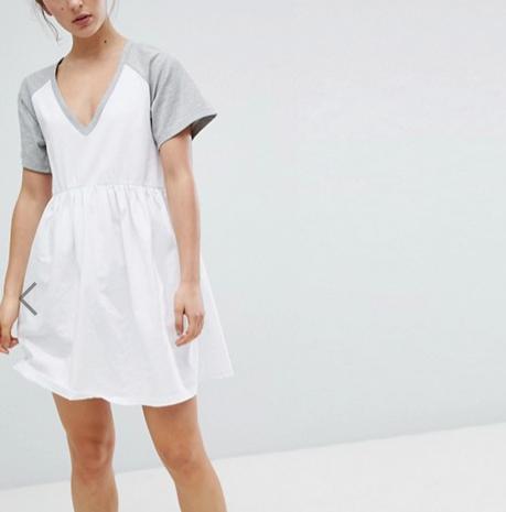 White ASOS T-shirt Dress
