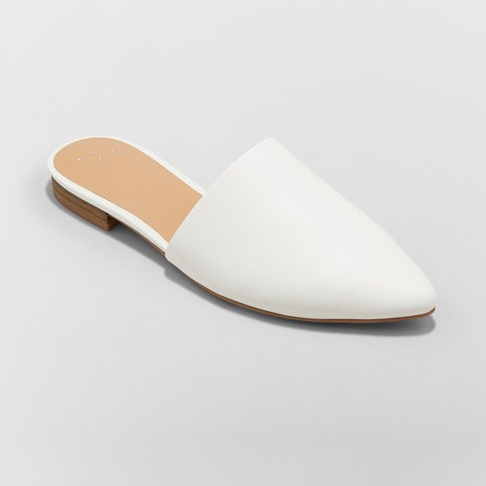 White Mules - These are super fun and very CHIC slide-ons! At their $23 price point, they are the perfect addition at EVERY wardrobe!! I bought my usual size, and they fit just fine! The leather upper comes farther up on my foot than other mules, so it did rub the top of my foot a little hard the first time I wore them, but once the shoe was creased by my natural walking movement, they were finally comfortable! So, my advice would be to wear them around the house the first time to break them in! Other than that, they were so great!! I've worn them to work 3 times this week LOL!!