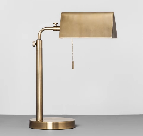 Gold Hearth and Hand Accent Library Lamps | Demure Fashion Blog