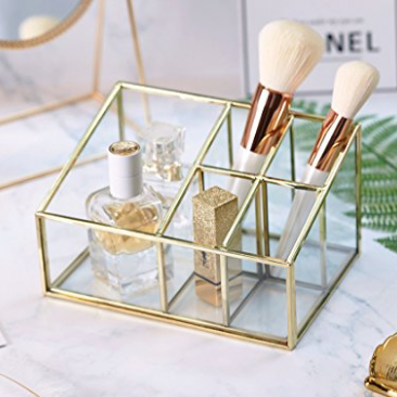 Gold Makeup Brush Holder | Demure Fashion Blog