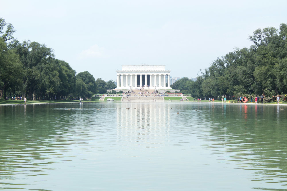 The Reflection Pond in Washington D.C. | Demure Fashion Blog