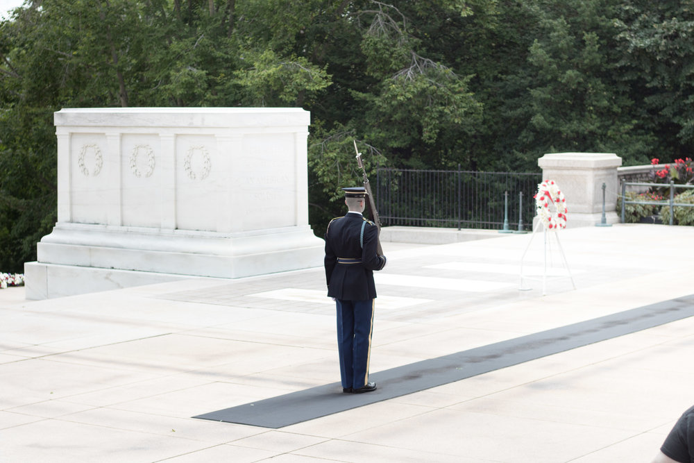 The Changing of The Guard at Arlington Cemetery | Demure Fashion Blog
