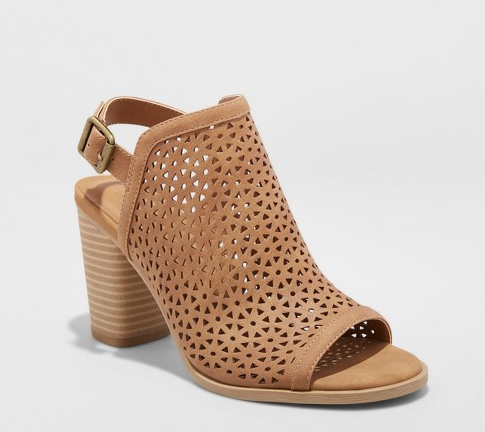 Camel Sling-back Block Heels | Demure Fashion Blog