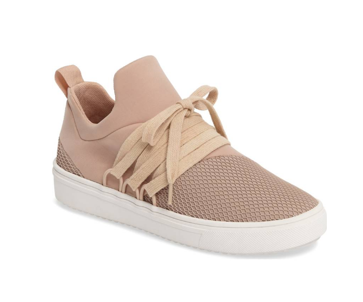 Pink Steve Madden Sneakers | Demure Fashion Blog
