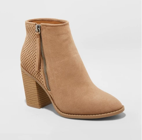 Camel Booties | Demure Fashion Blog