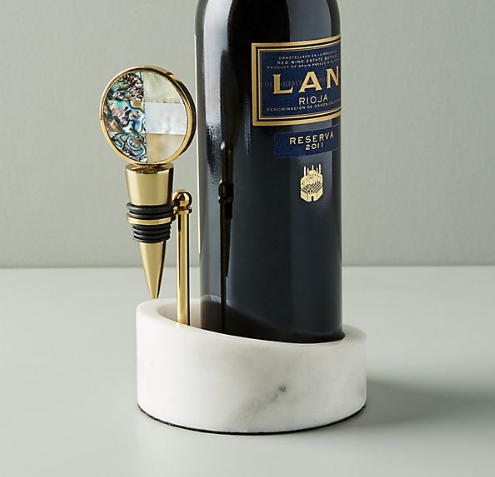 Decorative Wine Bottle Holder & Stopper