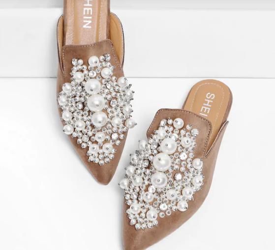 Pearl Detail Mules | Demure Fashion Blog