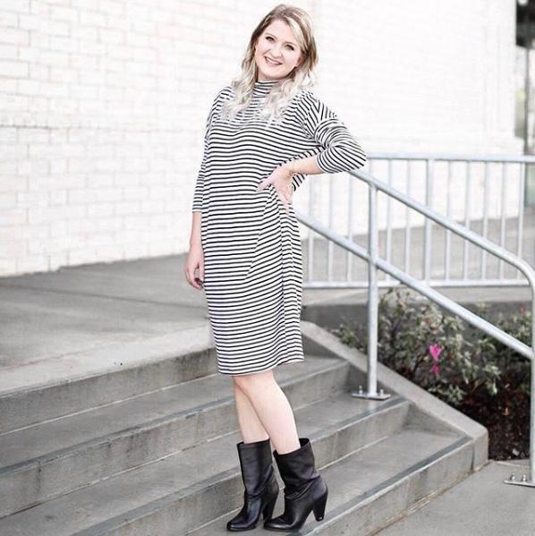 Dolman Sleeved Lou & Gray Midi Dress | Demure Fashion Blog