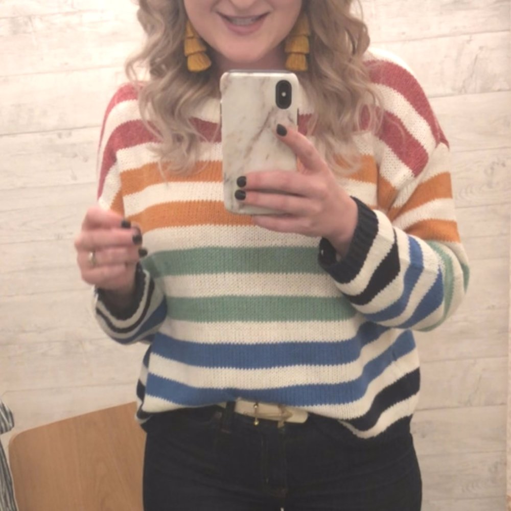 Striped Sweater | A Demure Life