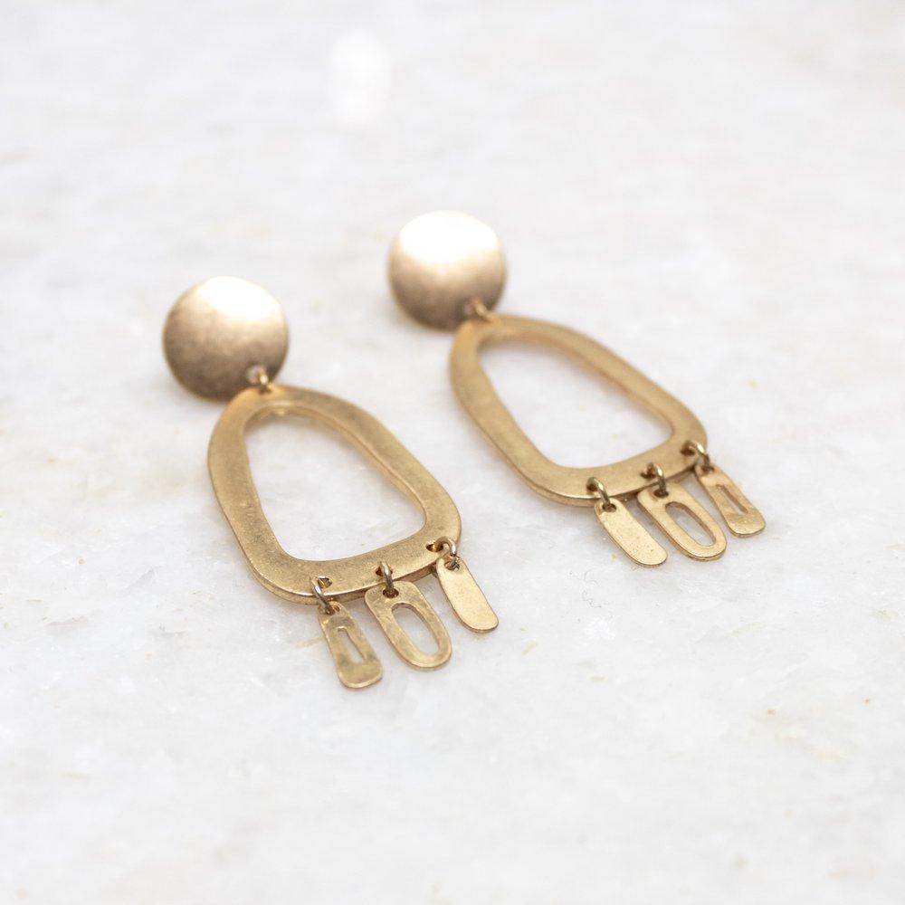Gold Dangle Earrings   A Demure Life