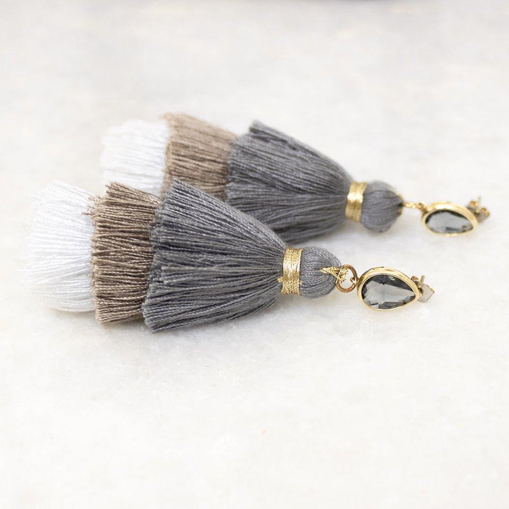 Neutral Tassel Earrings   A Demure Life