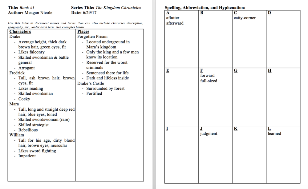 Style Sheet Example 1