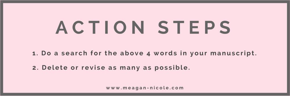 Eliminate Words Action Steps