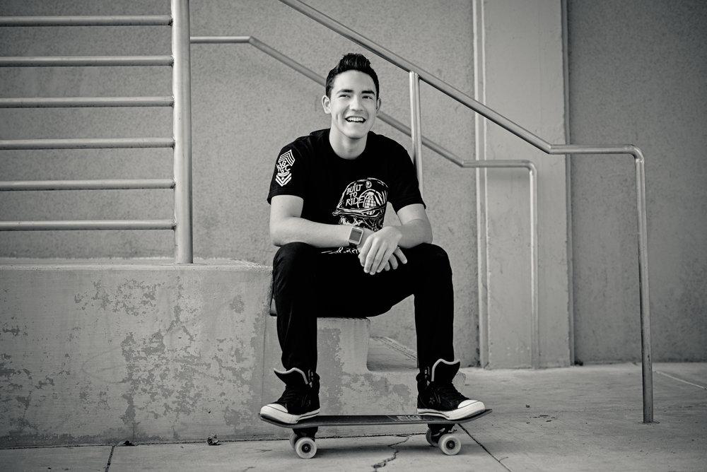 Salinas High School Senior Pictures, Skateboards, Salinas, Ca