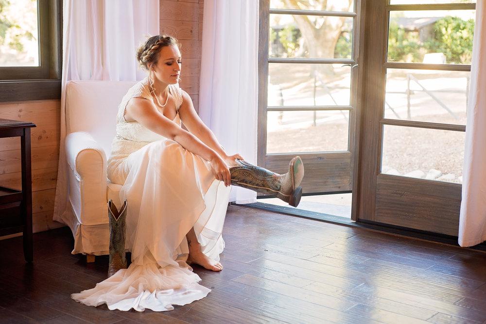 Bridal Photographer, Cowboy Boots, Carmel Valley, CA
