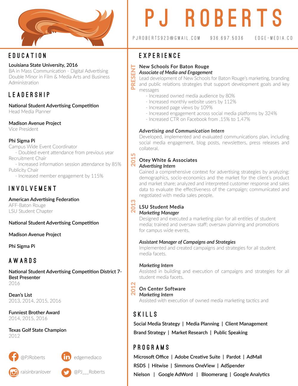 resume edge media