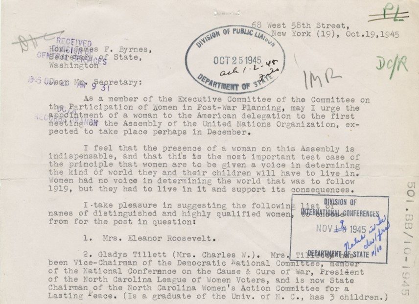 Phelps Morand to Byrnes 1945 Letter