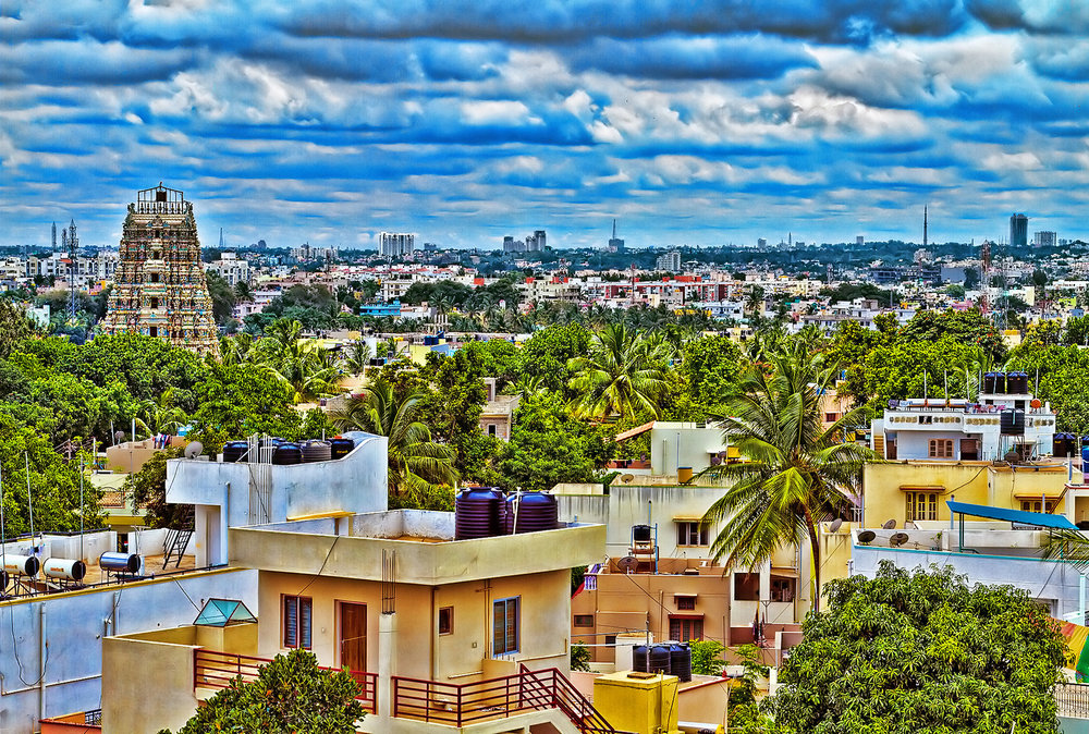 Bengaluru (Bangalore) is a mix of the modern and traditional, with gardens and heavily built-up spaces  Picture:  Balaji Nagarajan