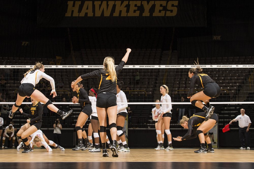 Iowa vs Iowa State Volleyball