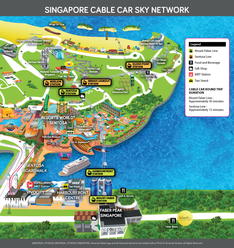 Singapore Cable Car Network Map - One Faber Group