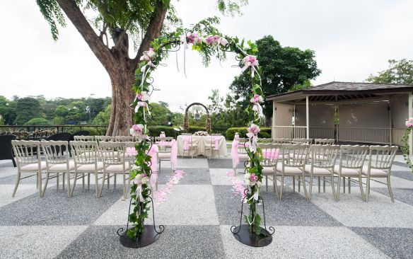 Garden Wedding With Garden Arch - One Faber Group