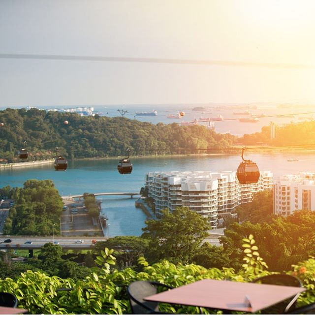 Nothing beats watching the sunset on our beautiful #island from our cable cars. . . . #OneFaberGroup #SingaporeCableCar #SentosaLine #cablecars #cablecar #cablecarrides #cablecarride #joy #exploreSG #IGSG #memories #delight #escapade #greenery #skyview #topoftheworld