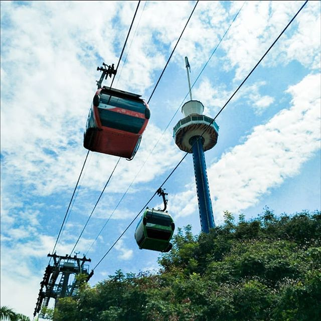 Bottoms up! With Singapore Cable Car, there will always be a seat for everyone in the sky. ☀️ . . . #OneFaberGroup #singaporecablecar #cablecars #cablecar #cablecarride #memories #delight #escape #escapade #exploreSG #IGSG