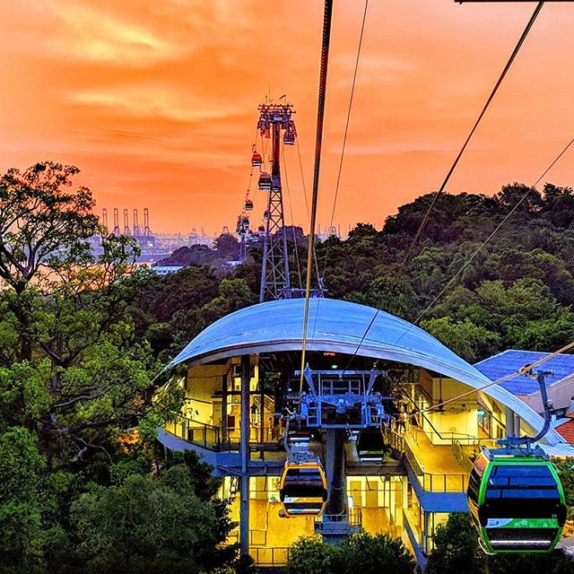 #ProTip: The best seats in the house to catch the nation's sunsets are on board the #SingaporeCableCar! 📷: @pikabuoy . . . #OneFaberGroup #SGIG #ExploreSG #IGSG #Memories #Delight #Escapade #SingaporeCableCar #CableCars #CableCar #CableCarRides #CableCarRide #Singapore #Travel #Wanderlust #Sunsets #Views #BeachLife