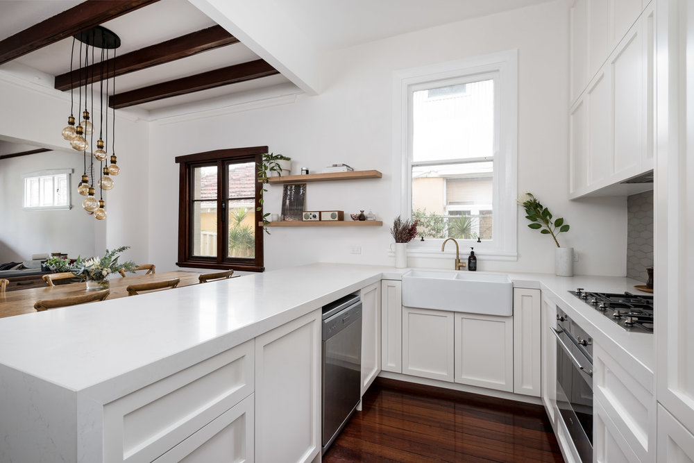 Mt Lawley Kitchen Renovation. Shaker Doors. Painted Cabinets.