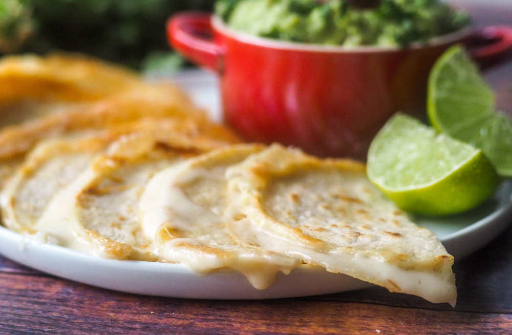 Guacamole and quesadillas