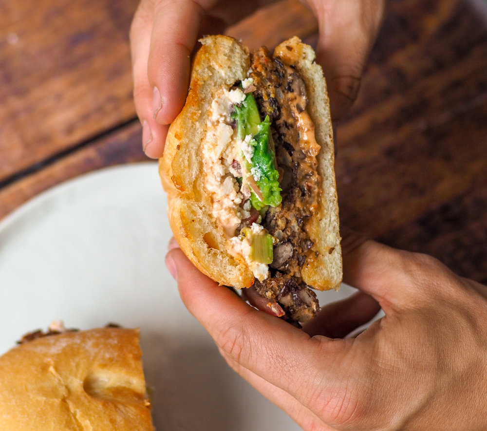 Black Bean Torta Burger