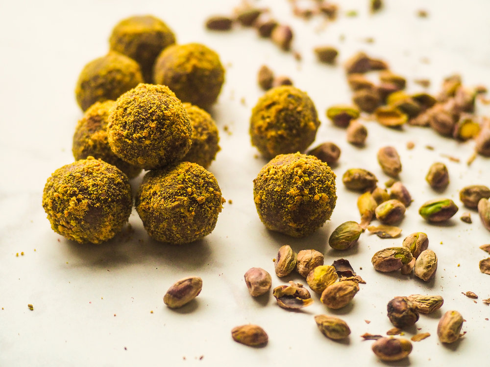 Chocolate-Tahini Truffles