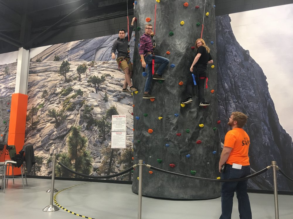 Climbing Rock Wall - Our rock wall will keep your blood pumping after you've had your fill of the game room