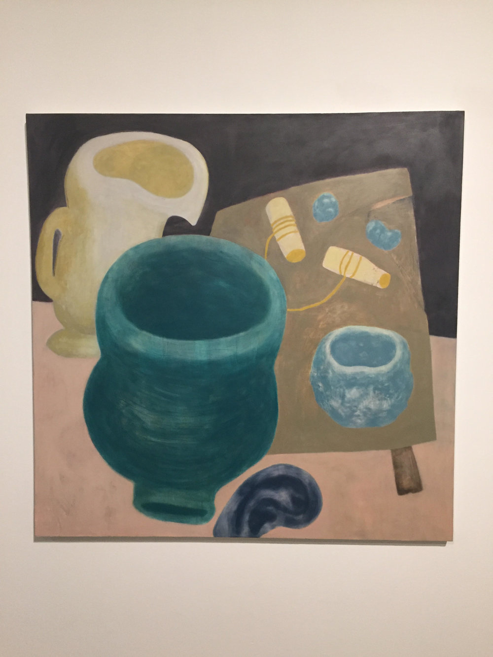Ginny Casey,  The Potter's Ear,   2015. Oil on canvas, 55 x 55 inches.