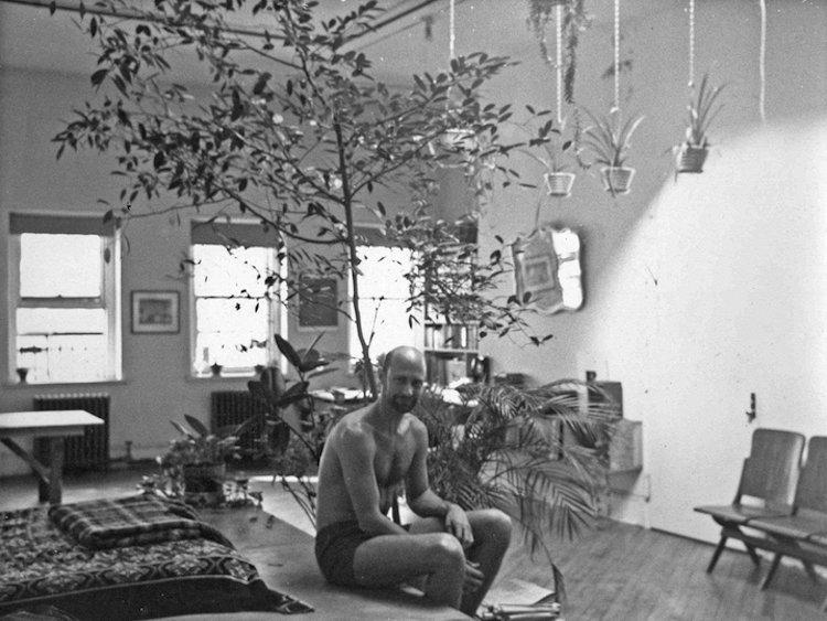 Crimp in his loft, c. 1975.