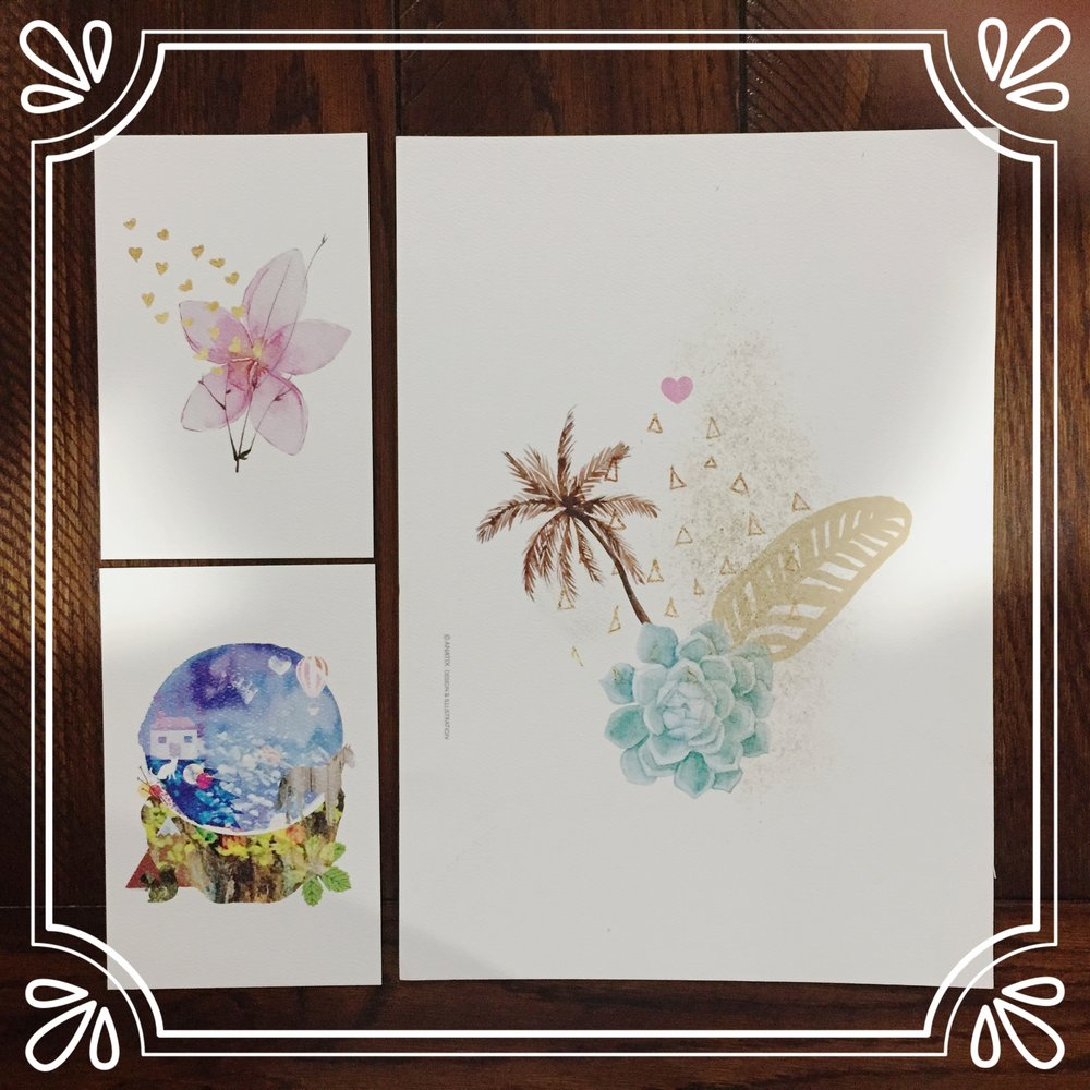 i love unique prints when it comes to nursery decore. these are from anatix on etsy.  -