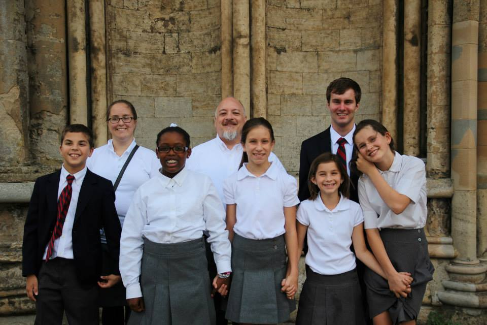 Mr. Law and Choristers of St. Paul's Akron at Ely Cathedral, UK