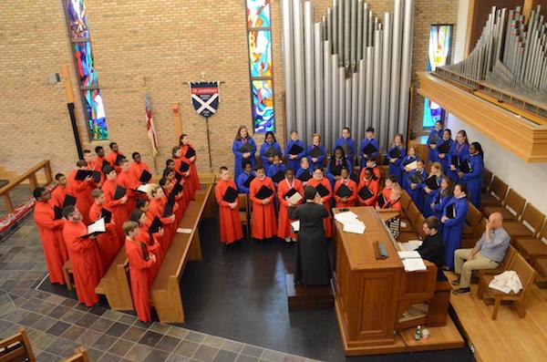 Rehearsal at St. Andrew's Episcopal Church in Burke, VA