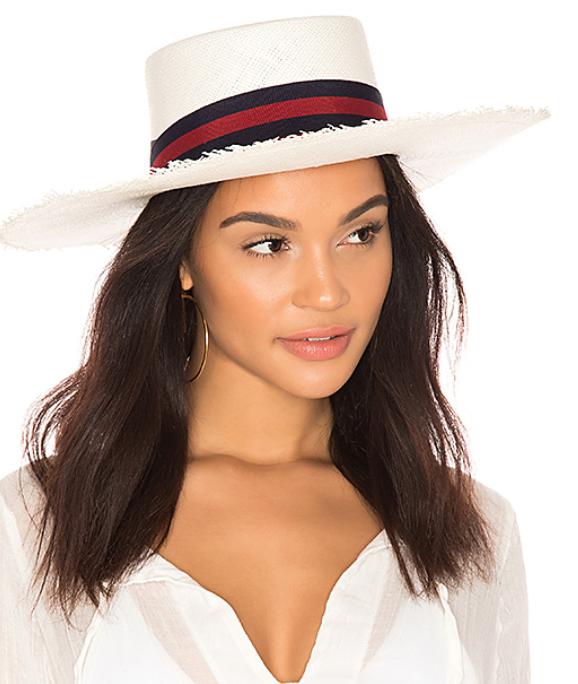 FRAYED BOATER HAT