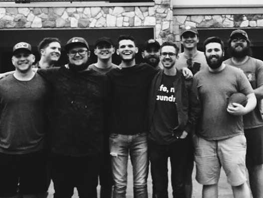 Each one of these dudes (and @ryanmbussiere) have made an impact on my life in the last 10+ years, especially with Hailstorm and me. Love these dudes a lot. This weekend was awesome. #itwasmintonbe
